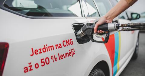 Plnění auta na CNG